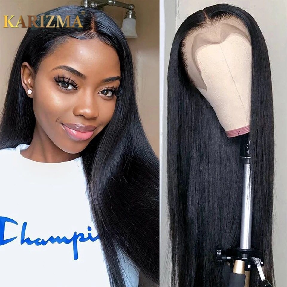 Straight Lace Front Human Hair Wigs Pre Plucked Hairline With Baby Hair Peruvian Remy Hair 150% 13x4 Human Hair Lace Front Wigs