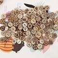 50 шт. 2 отверстия деревянные Кнопки для ручной работы шитье скрапбукинга одежда поделки DIY круглые аксессуары ручной работы украшение подар...