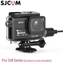 Original SJCAM SJ8 Pro / SJ8 Plus / SJ8 AIR Waterproof Charging Case Housing Cable For Motorcycle And Outdoor Charging Using