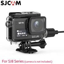 Oryginalny SJCAM SJ8 Pro/SJ8 Plus/SJ8 AIR wodoodporne etui z funkcją ładowania obudowa na kabel do motocykla i ładowania na zewnątrz za pomocą