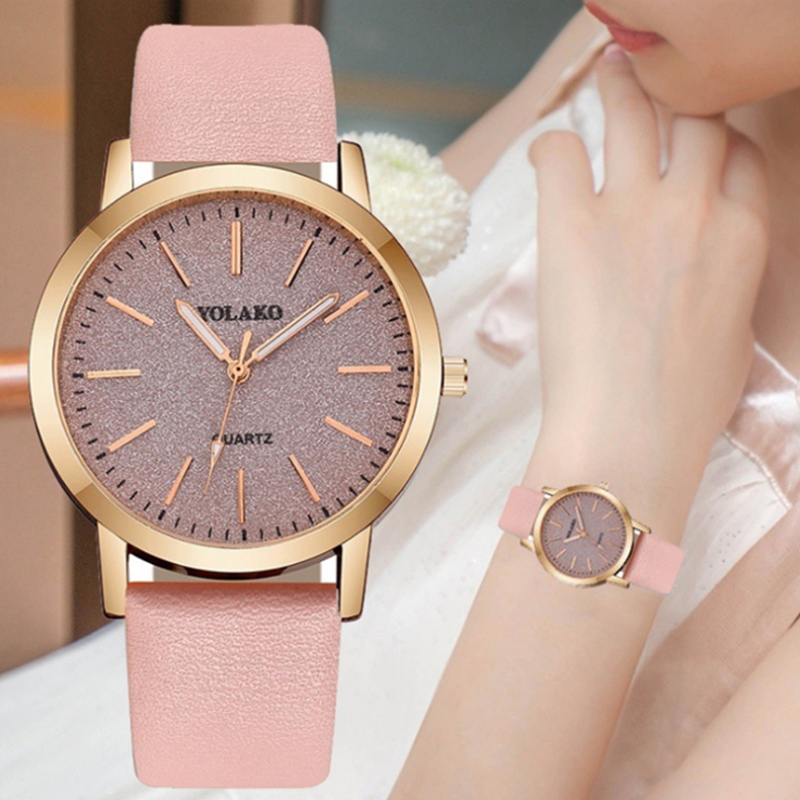 New Women Watch Luxury Brand Simplicity Dial Fashion Leather Wristwatch Quartz Clock Casual Women's Dress Watches reloj mujer