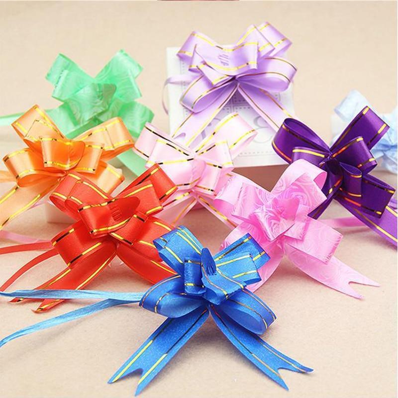 Подарочная упаковка, ленты с бантом 100 шт./лот, для упаковки подарков, товары для свадебной вечевечерние НКИ, дня рождения, домашнее украшени...