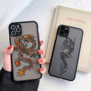 Black Dragon Phone Case For iPhone 11 7 8 Plus X XR XS 11pro MAX 6 S Plus SE 2020 Fashion Animal Hard PC Back Cover Funda Shell