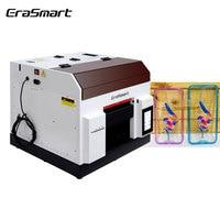 Erasmart Desktop Flat Bed Mini A4 Uv Printer Phone Case Printer Uv Flatbed Printer