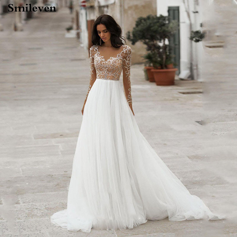 Romantic Wedding Dresses With Sleeves 57 Off Awi Com
