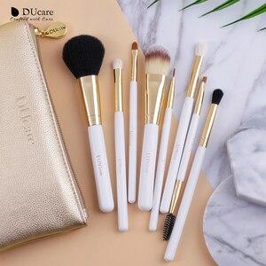 Image 5 - DUcare 8PCS Makeup Brushes Natural hair Makeup brush set with Bag Foundation Powder Brush Eyeshadow Brushes  Travel Makeup Set