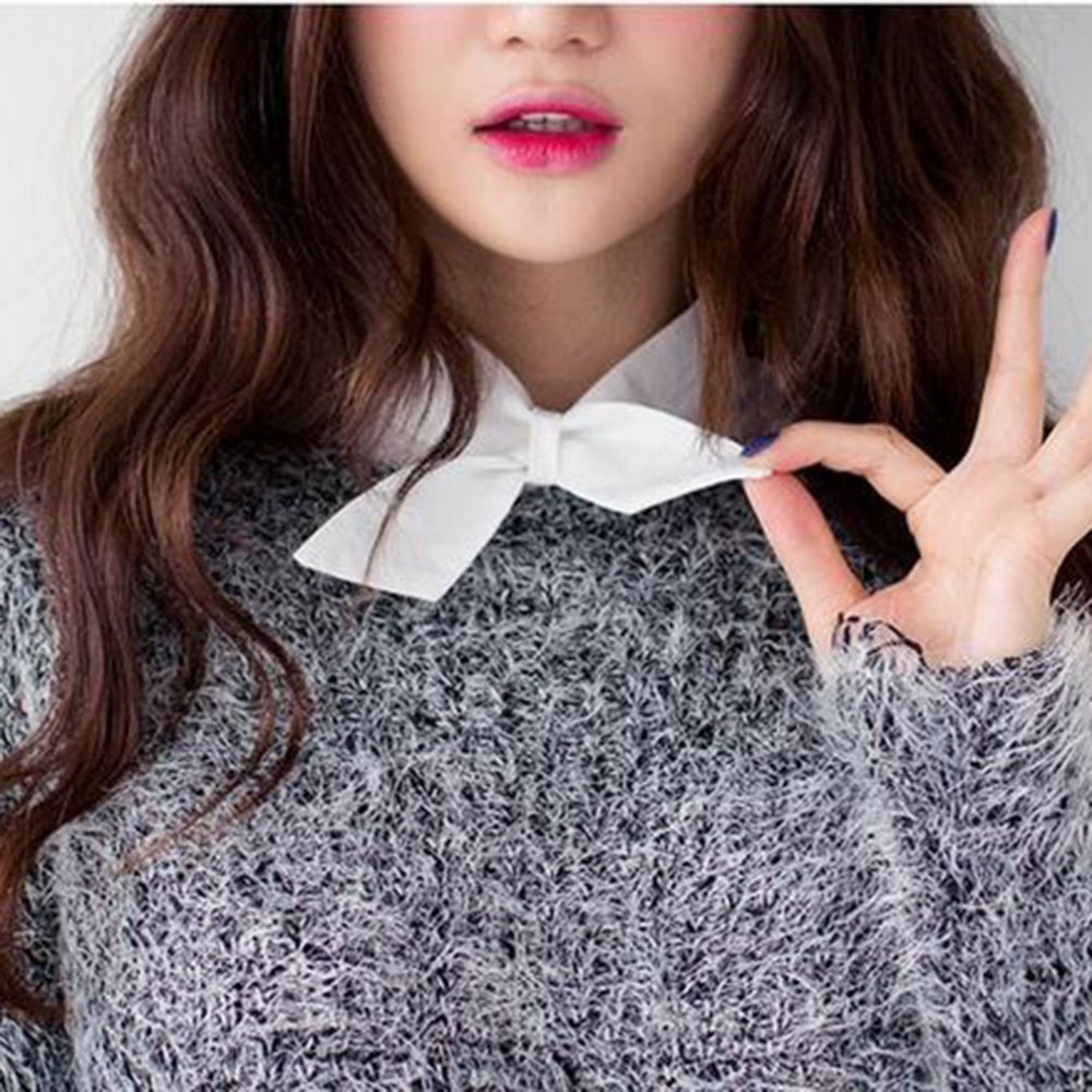 New Style Shirt Fake Collar White Tie Vintage Detachable Collar False Collar Lapel Blouse Women Clothes Accessories Valse Kraag