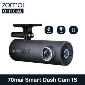 English Voice Control 70mai Car DVR Cam 1S 1080HD 70mai cam Night Vision 70Mai Dash Cam 1S Free Wifi Recorder 70 mai Dash Cam 1S(China)