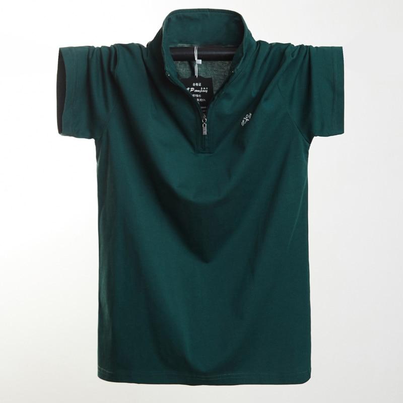 Image 2 - חדש 2020 אופנה גברים פולו חולצת כותנה קצר שרוול קיץ לנשימה חולצה גברים מגניב פולו חולצות מקרית חולצות 5XL 6XL בתוספת גודל-בפולו מתוך ביגוד לגברים באתר