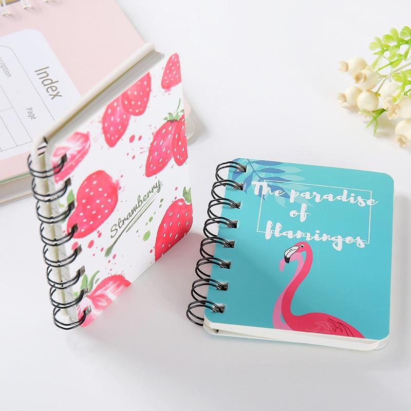 Hard Cover Cute Ring Binder Mini Notepad Cartoon Portable Hand Account School Kawaii Planner Memo Pad 2019 2020 Agendas Notebook