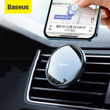 Baseus magnético titular do telefone do carro ventilação de ar universal para o iphone 12 pro smartphone suporte de telefone do carro clipe montagem titular