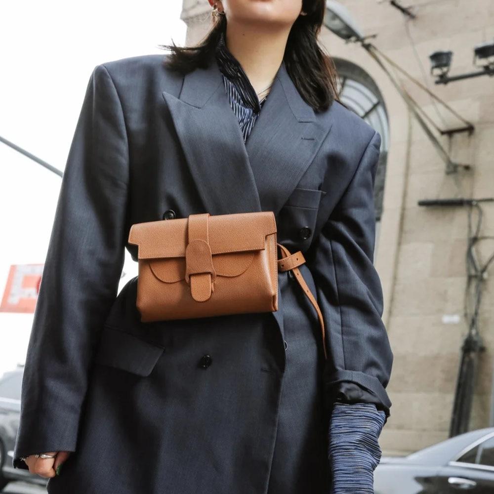 Hot Sale Genuine Leather Women Chest Bag 2021 Luxury Designer Ladies Messenger Bags High Quality Female Shoulder Bag Waist Packs