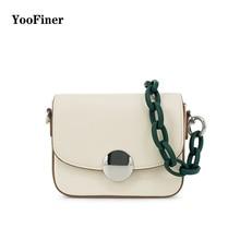 2019 YooFiner Luxury Brand Designer Women Messenger Bags for Girls Chain Shoulder generous Bag Pu Leather Lady Handbag