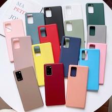 Funda de TPU suave para Xiaomi Mi Poco X3, NFC, M3, C3, X2, F2, 9T Pro, 6X, 5X, A2, A1, funda de silicona de Color caramelo para Redmi Y2 Y3
