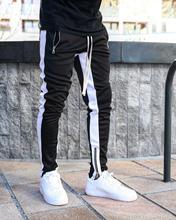 Nuevo jogger sports casual pantalones hombres pantalones gym fitness