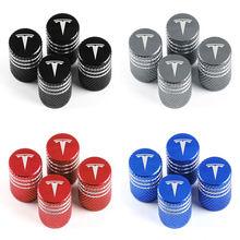 4 pièces nouveau multicolore en aluminium voiture pneu Valve noyau bouchons roue Valve tige bouchon anti-poussière pour TESLA modèle 3 modèle X S accessoires