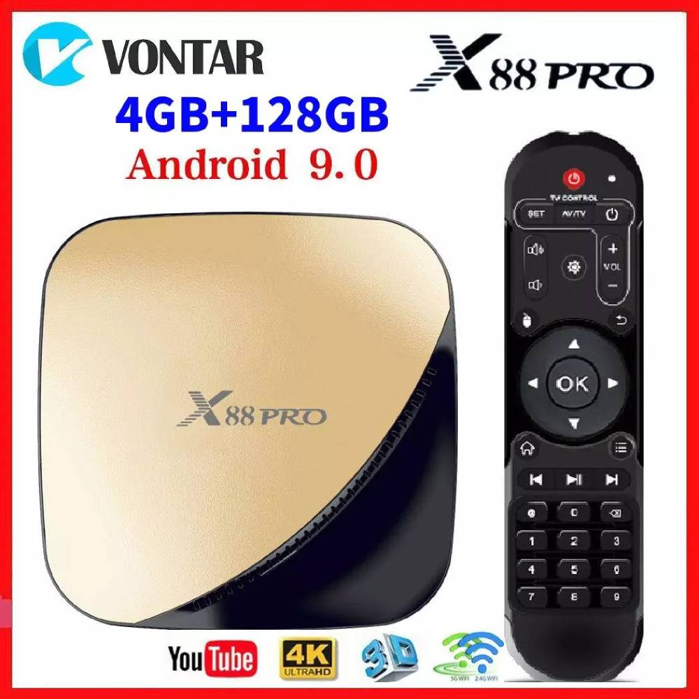 X88 PRO Smart TV BOX Android 9.0 4GB RAM 32GB 64GB 128GB ROM RK3318 Quad Core WIFI 4K GooglePlay YouTube Media Player 2G16G