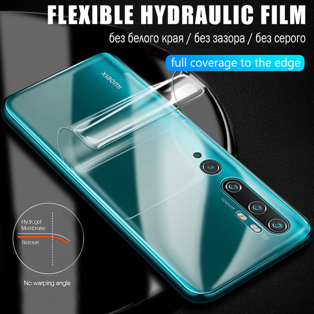 Screen Protector For Xiaomi Poco M3 X3 NFC F1 F2 Pro For Mi Note 10 Pro A3 A2 A1 8 9 9T 10T Lite Mix 3 Hydrogel Front Back Film 3