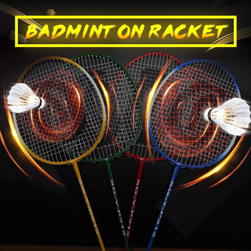 Badminton Racket Nylon Professional Game Racket Sports Racket Movement Sporting Goods School Toys Lightweight Ferroalloy