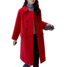 New women Korean Autumn Winter 2019 Wool Blends Overcoat Fashion Overcoats Jacket Elegant Jackets Coats Blend Top Leisure Coat цена