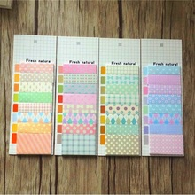 1Pack/lot Fresh Pastoral Wind And Convenient Stickers N Times With Weekly Calendar Sticky Notes Random