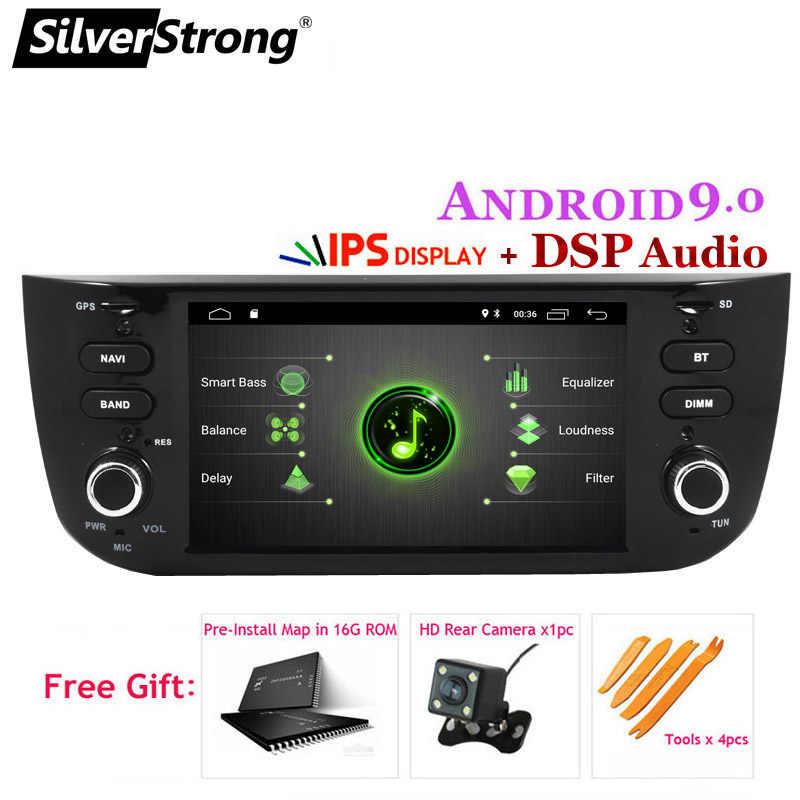 SilverStrong IPS DSP Android9.0 ための車の Dvd Linea Grande Punto 自動車マルチメディアプレーヤーオプション DSP 2G16G