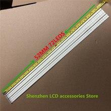 10 adet/grup 72LEDs 520MM 46 aşağı LJ64 03035A LED şerit kızak 2011SGS46 5630 72 H1 REV0 için LTA460HQ12 LED46860iX LTA460H yeni