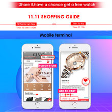 CIVO Women Watches Men Add your favorite watches on the shopping cart and share it ,get more likes have chance get a free gift(China)
