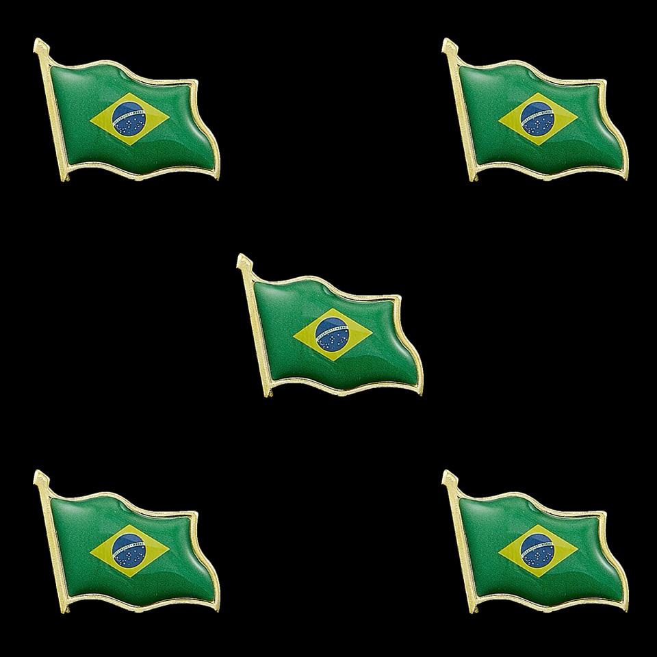 Brazil Brasil Flag Lapel Pin Bandera Hat Cap Shirt Tie