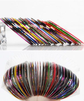 Allnewelook 2mm Multi Color Popular Nail Striping Tape Line For 3D Nails Decorations Diy Nail Art Self-Adhesive Decal Tools 1pcs nail decal and sticker gold silver metal curve strip lines adhesive striping tape multi size 3d stickers nail art diy decor