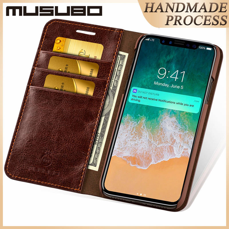 Musubo Leather <font><b>Cases</b></font> For iPhone 11 Pro XS MAX Luxury wallet phone bag Cover for <font><b>iphonex</b></font> 8 Plus 7 Plus 6s 6 flip <font><b>case</b></font> capa coque image