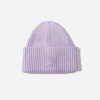 2020 New Acne unisex women's autumn and winter hats Angora100% double layer warm hat Skulies wool hat Warm knitted hat 21