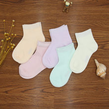 Spring Summer Colored Cotton Men And Women CHILDREN'S Socks New Style Flat Short Children Socks Children's Socks(China)