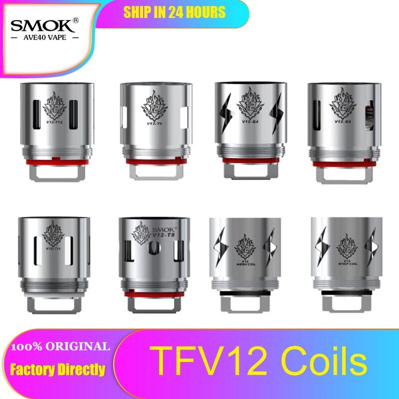 3pcs Original SMOK V12  Q4 for TFV12 tank T6 T8 T12 Coils X4