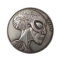 1937 cabeça alienígena hobo moeda morgan wanderer comemorativa coleção de moedas lembranças decoração para casa artesanato ornamentos presente