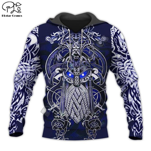 Viking Warrior Tattoo 3D Full Print Hoodie/Sweatshirt/Jacket 1