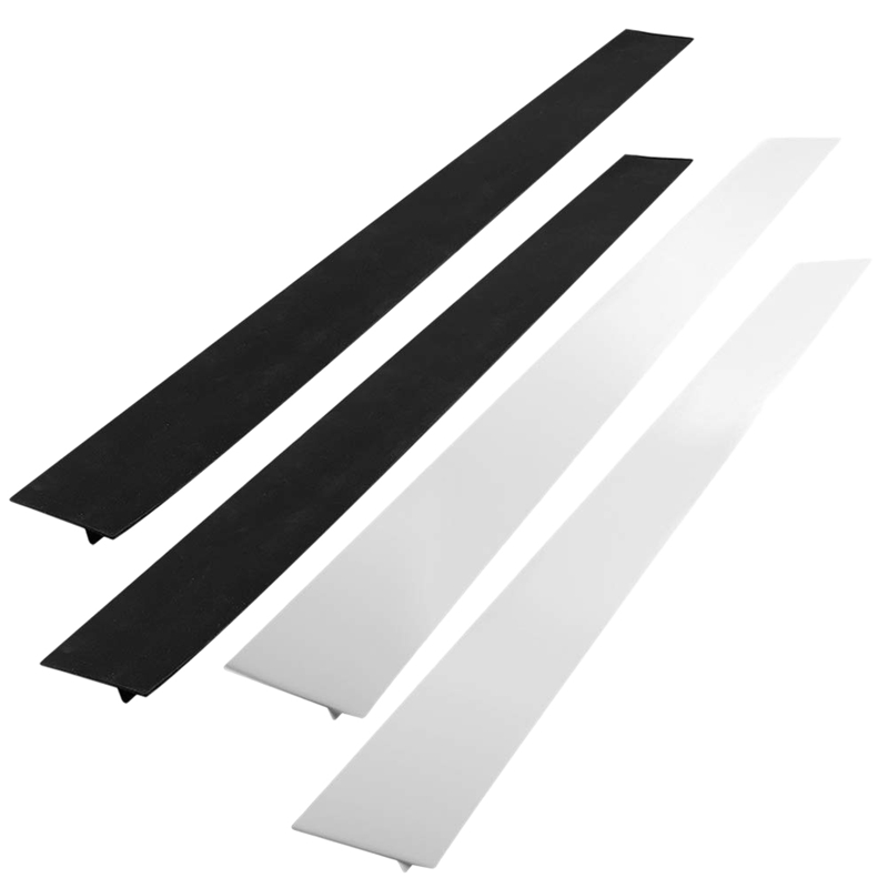 Big Deal Set Of 4 Kitchen Silicone Stove Counter Gap Cover, Long & Wide Gap Filler Seals Spills Guard For Stove Top Oven Wash