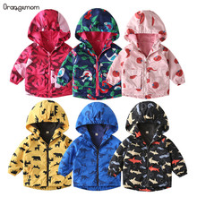 Tiktok Fashion waterproof parka European Children Clothing spring Boys Girls Windbreaker 2-8 Year Kids Coats outdoor jacket
