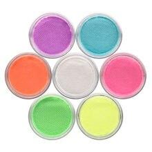 Bolo de néon água ativado delineador conjunto arco-íris cor aqua brilho uv blacklight corpo rosto pintura colorida olho forro creme maquiagem