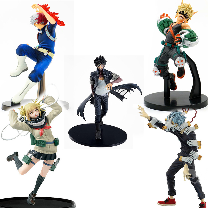 Anime My Hero Academia Figure Cross My Body Himiko Toga Figurine Todoroki Shoto Action Figures Bakugou Katsuki PVC Model Toys