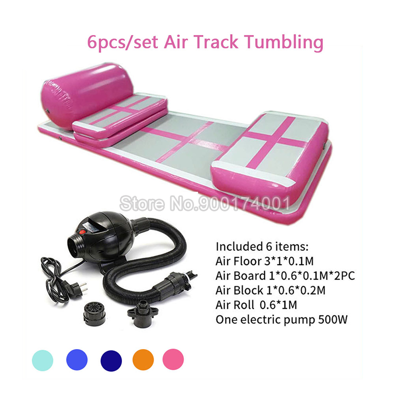 Free Shipping Inflatable Gymnastics Tumbling Mat Air Tumbling Track Set Air Floor Mat Inflatable Air Track For Home/Cheerleading