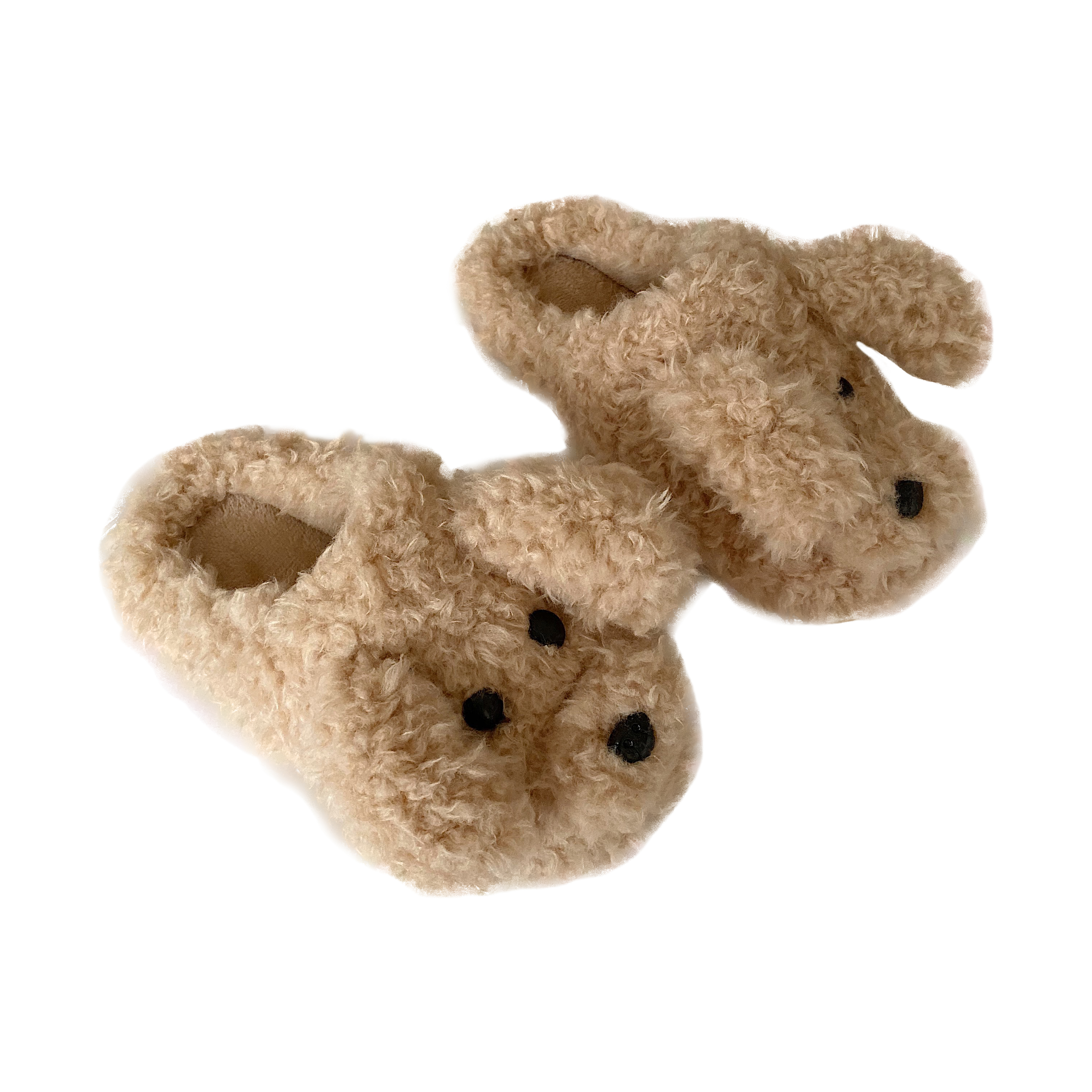 Cute Fluffy Dog Slippers Women Home