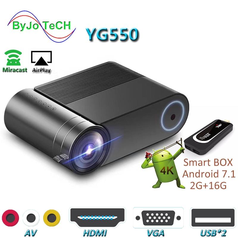 ByJoTeCH YG550 1080P projektor led WiFi multi-screen kino domowe beamer Android 7.1 opcjonalnie Full HD Proyector 4000 lumenów