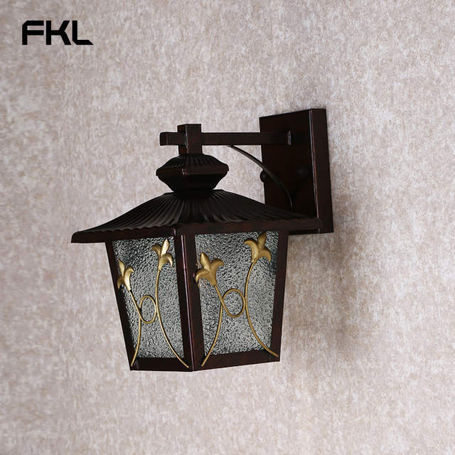 Fkl Modern Black Gl Outdoor Lighting