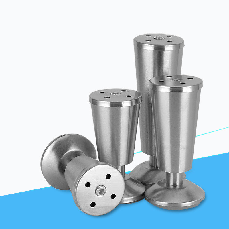 4pcs Stainless Steel Furniture Legs Sofa Feet Cup Type Metal Cabinet Support Feet For TV Cabinet Sofa Legs Furniture Accessories