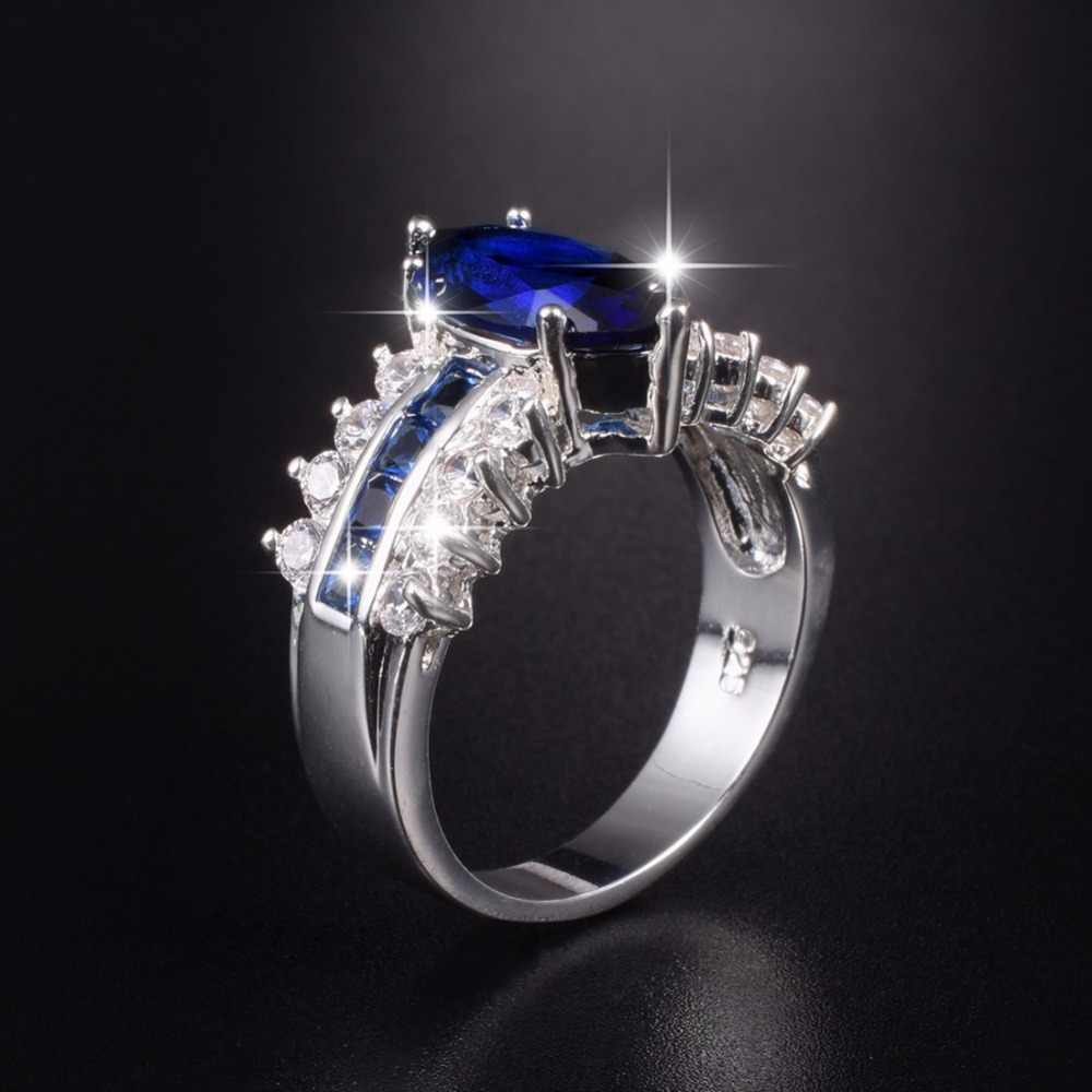 It is just a picture of Big Hot Sale Luxury Marquise Cut 43 Carat Blue Sapphire Wedding Ring for Women Men Have S43 Logo Real 43 Silver Rings size 43-43