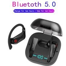 بلوتوث 5.0 سماعات TWS جدا طويلة سماعة لاسلكية تعمل بالبلوتوث سماعة للماء ستيريو يدوي الألعاب الهاتف سدادة الأذن PK HBQ q32q67