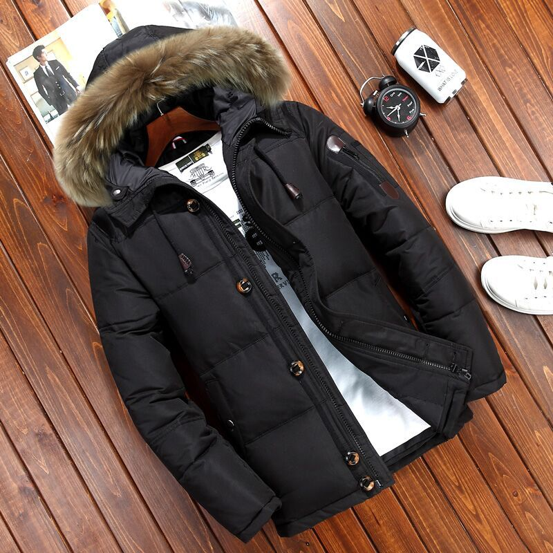 Winter Men's Outdoor Down Jacket Sports Cotton Suit Breathable Windproof Thick Warm Hiking Mountaineer Cotton Casual Down Jacket