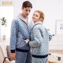 2020 paar Nacht Anzüge Männer Und Frauen Dicke Samt Pyjamas Sets Winter Nachtwäsche Hause Tragen Warme Pyjamas Paar Passende Pyjamas