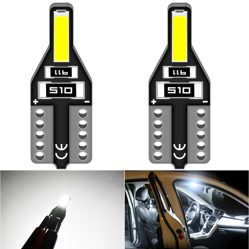 2pcs T10 W5W Led Bulb Auto Car Interior Light For Volkswagen VW Golf Passat Scirocco Polo Bora Touareg Transporter Car Lights